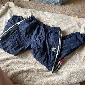 Adidas Navy windbreaker pants